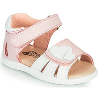 Παπούτσια Κορίτσι Σανδάλια / Πέδιλα Citrouille et Compagnie OLESS Ροζ / Άσπρο