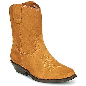 Παπούτσια Γυναίκα Μπότες για την πόλη Betty London OSONGE Cognac