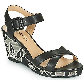 Παπούτσια Γυναίκα Σανδάλια / Πέδιλα JB Martin QUERIDA Black / Grey