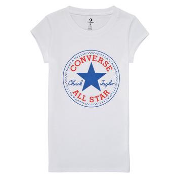 Υφασμάτινα Κορίτσι T-shirt με κοντά μανίκια Converse TIMELESS CHUCK PATCH TEE Άσπρο