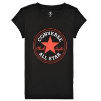 Υφασμάτινα Κορίτσι T-shirt με κοντά μανίκια Converse TIMELESS CHUCK PATCH TEE Black