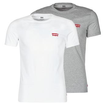 Υφασμάτινα Άνδρας T-shirt με κοντά μανίκια Levi's 2PK CREWNECK GRAPHIC Άσπρο