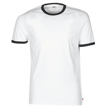 Υφασμάτινα Άνδρας T-shirt με κοντά μανίκια Levi's SS RINGER TEE Άσπρο