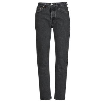 Υφασμάτινα Γυναίκα Boyfriend jeans Levi's 501 CROP Black