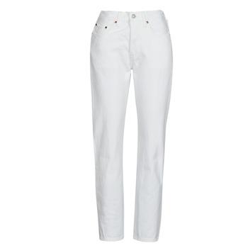 Υφασμάτινα Γυναίκα Boyfriend jeans Levi's 501 CROP Άσπρο