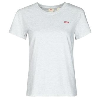 Υφασμάτινα Γυναίκα T-shirt με κοντά μανίκια Levi's PERFECT TEE Grey