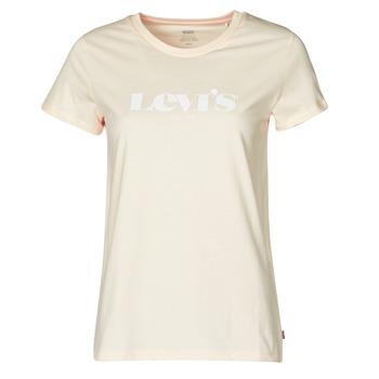 Υφασμάτινα Γυναίκα T-shirt με κοντά μανίκια Levi's THE PERFECT TEE Beige