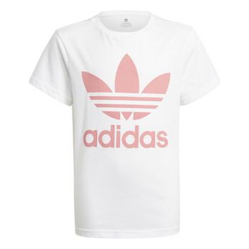 Υφασμάτινα Παιδί T-shirt με κοντά μανίκια adidas Originals HOULILA Άσπρο