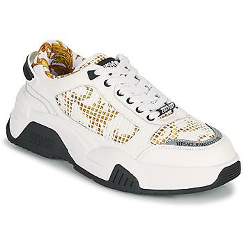 Παπούτσια Άνδρας Χαμηλά Sneakers Versace Jeans Couture HATINA Άσπρο / Gold