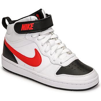 Xαμηλά Sneakers Nike NIKE COURT BOROUGH MID 2 ΣΤΕΛΕΧΟΣ: Δέρμα και συνθετικό & ΕΠΕΝΔΥΣΗ: Ύφασμα & ΕΣ. ΣΟΛΑ: Ύφασμα & ΕΞ. ΣΟΛΑ: Καουτσούκ