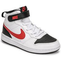 Παπούτσια Αγόρι Χαμηλά Sneakers Nike NIKE COURT BOROUGH MID 2 Άσπρο / Red / Black