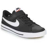 Παπούτσια Παιδί Χαμηλά Sneakers Nike NIKE COURT LEGACY Black / Άσπρο