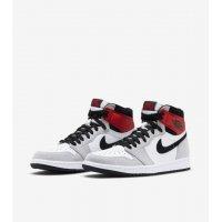 Παπούτσια Χαμηλά Sneakers Nike Air Jordan 1 Light Smoke Grey White/Black-Light Smoke Grey-Varsity Red