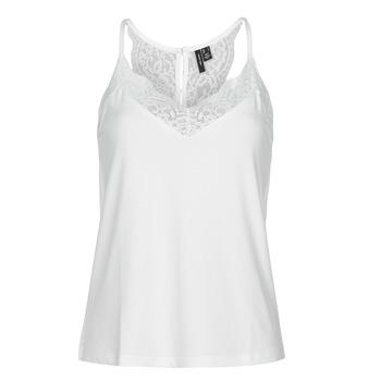 Υφασμάτινα Γυναίκα Αμάνικα / T-shirts χωρίς μανίκια Vero Moda VMANA Άσπρο