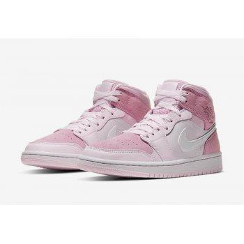 """Παπούτσια Χαμηλά Sneakers Nike Air Jordan 1 Mid WMNS """"Digital Pink""""  Digital Pink/White-Pink Foam-Sail"""