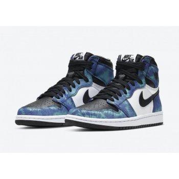Παπούτσια Ψηλά Sneakers Nike Air Jordan 1 High Tie-dye White/Black-Aurora Green