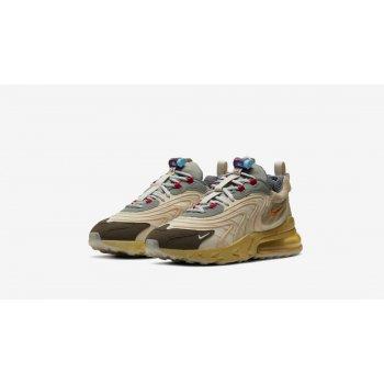 Παπούτσια Χαμηλά Sneakers Nike Air Max 270 React x Travis Scott Light Cream/Dark Hazel-Mica Style