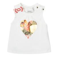 Υφασμάτινα Κορίτσι Αμάνικα / T-shirts χωρίς μανίκια Ikks XS10030-19 Άσπρο