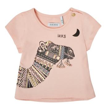 Υφασμάτινα Κορίτσι T-shirt με κοντά μανίκια Ikks XS10100-32 Ροζ