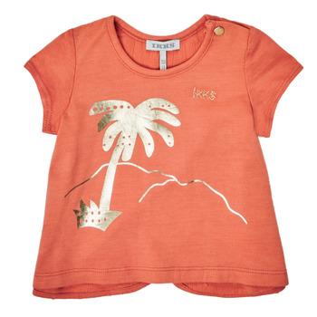 Υφασμάτινα Κορίτσι T-shirt με κοντά μανίκια Ikks XS10080-67 Orange
