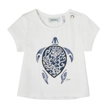 Υφασμάτινα Κορίτσι T-shirt με κοντά μανίκια Ikks XS10070-19 Άσπρο