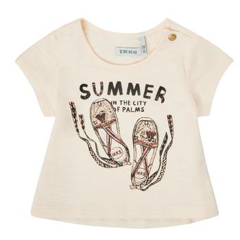 Υφασμάτινα Κορίτσι T-shirt με κοντά μανίκια Ikks XS10090-11 Άσπρο