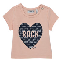 Υφασμάτινα Κορίτσι T-shirt με κοντά μανίκια Ikks XS10120-31 Ροζ