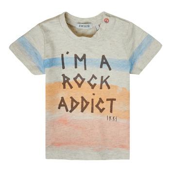 Υφασμάτινα Αγόρι T-shirt με κοντά μανίκια Ikks XS10061-60 Multicolour