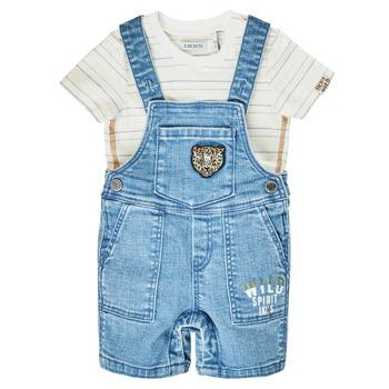 Υφασμάτινα Αγόρι Ολόσωμες φόρμες / σαλοπέτες Ikks XS37011-84 Μπλέ