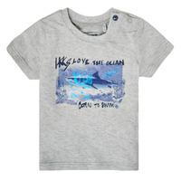 Υφασμάτινα Αγόρι T-shirt με κοντά μανίκια Ikks XS10031-24 Grey