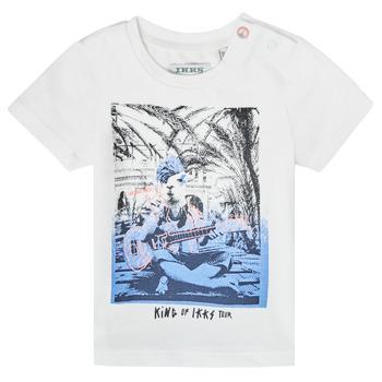 Υφασμάτινα Αγόρι T-shirt με κοντά μανίκια Ikks XS10051-19 Άσπρο