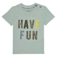Υφασμάτινα Αγόρι T-shirt με κοντά μανίκια Ikks XS10131-50 Μπλέ