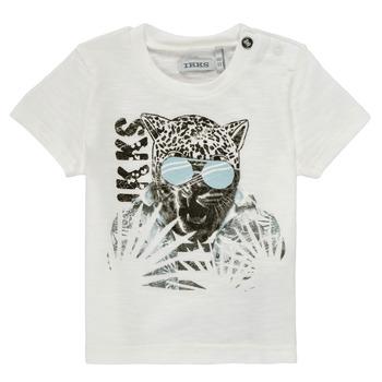 Υφασμάτινα Αγόρι T-shirt με κοντά μανίκια Ikks XS10161-19 Άσπρο