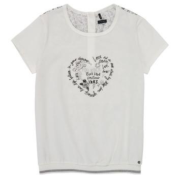 Υφασμάτινα Κορίτσι T-shirt με κοντά μανίκια Ikks XS10242-19-J Άσπρο