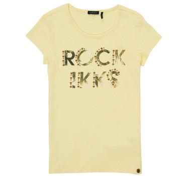 Υφασμάτινα Κορίτσι T-shirt με κοντά μανίκια Ikks XS10182-73-J Yellow