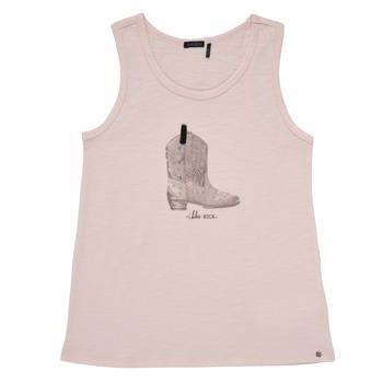 Υφασμάτινα Κορίτσι Αμάνικα / T-shirts χωρίς μανίκια Ikks XS10302-31-C Ροζ