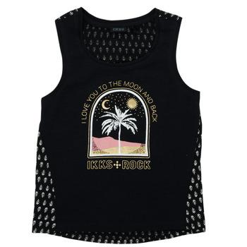 Υφασμάτινα Κορίτσι T-shirt με κοντά μανίκια Ikks XS10012-02-J Black