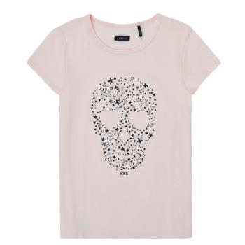 Υφασμάτινα Κορίτσι T-shirt με κοντά μανίκια Ikks XS10492-31-C Ροζ