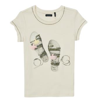 Υφασμάτινα Κορίτσι T-shirt με κοντά μανίκια Ikks XS10132-11-C Άσπρο