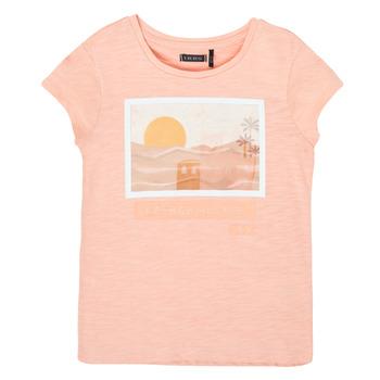 Υφασμάτινα Κορίτσι T-shirt με κοντά μανίκια Ikks XS10332-32-C Ροζ