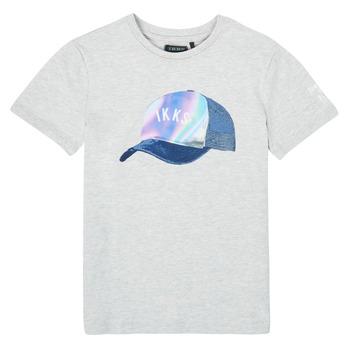 Υφασμάτινα Αγόρι T-shirt με κοντά μανίκια Ikks XS10073-24-C Grey