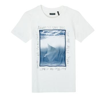 Υφασμάτινα Αγόρι T-shirt με κοντά μανίκια Ikks XS10033-19-C Άσπρο