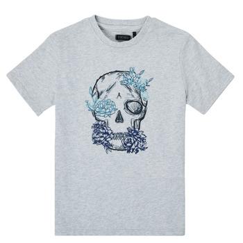 Υφασμάτινα Αγόρι T-shirt με κοντά μανίκια Ikks XS10243-21-C Grey