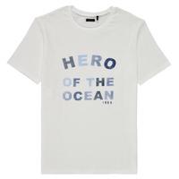 Υφασμάτινα Αγόρι T-shirt με κοντά μανίκια Ikks XS10343-19-C Άσπρο