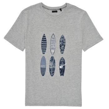 Υφασμάτινα Αγόρι T-shirt με κοντά μανίκια Ikks XS10363-24-C Grey
