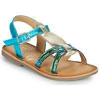 Παπούτσια Κορίτσι Σανδάλια / Πέδιλα Mod'8 CALICOT Turquoise / Gold