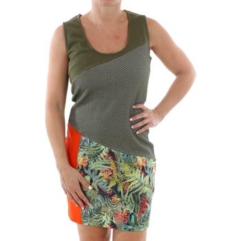 Υφασμάτινα Γυναίκα Κοντά Φορέματα Smash CADIZ DRESS ARMY 38 Verde