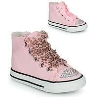 Παπούτσια Κορίτσι Ψηλά Sneakers Citrouille et Compagnie OUTIL Ροζ