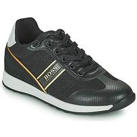 Παπούτσια Αγόρι Χαμηλά Sneakers BOSS TRAMMI Black / Gold