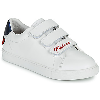Παπούτσια Γυναίκα Χαμηλά Sneakers Bons baisers de Paname EDITH MADAME MONSIEUR Άσπρο